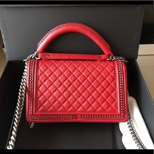 CHANEL Bags - Chanel New Medium with top handle Le boy Bag